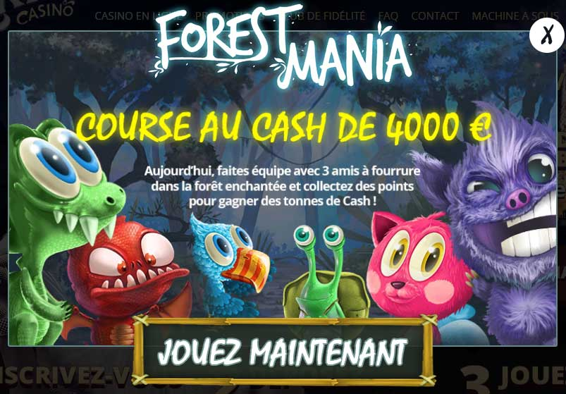 Promotion Forest Mania de Paris Casino