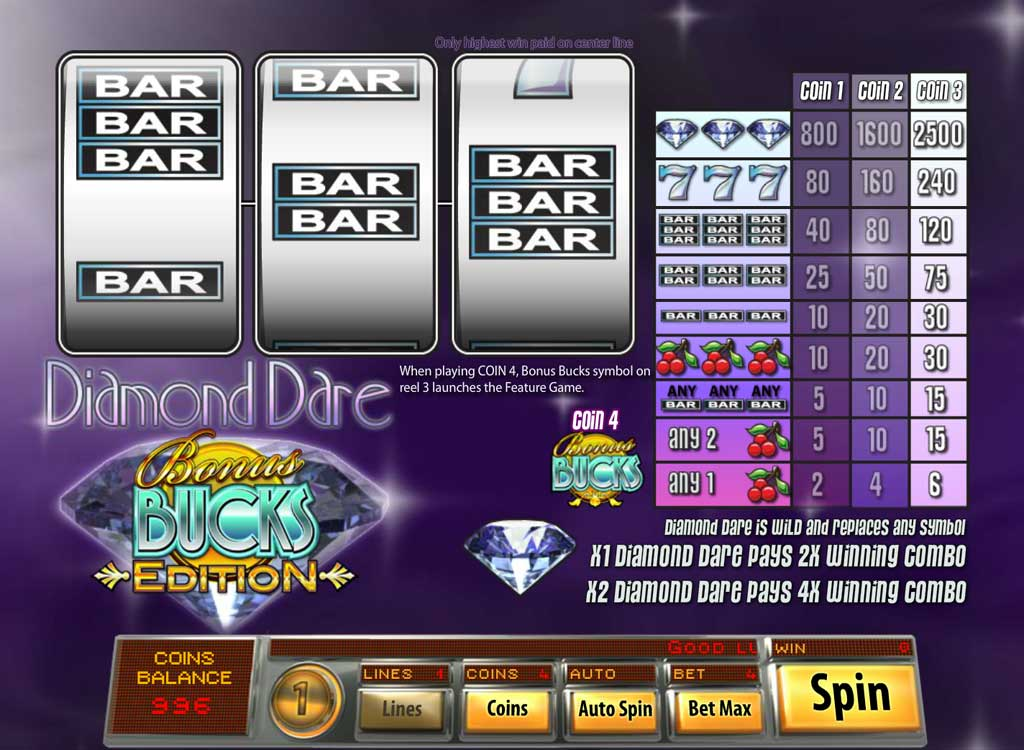 Jouer à Diamond Dare Bonus Buck