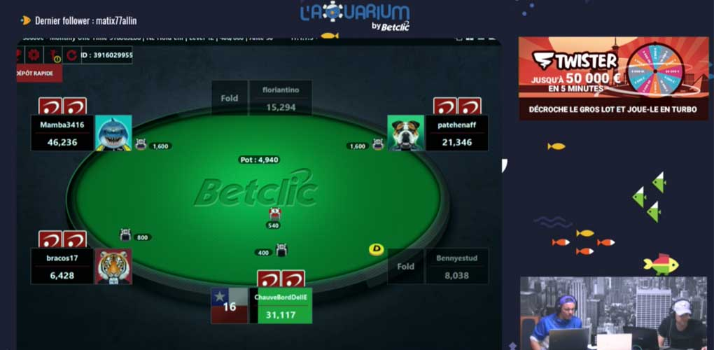 Aquarium TV de Betclic sur Twitch