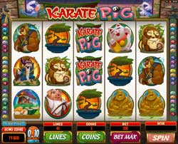 Machine à sous Karate Pig