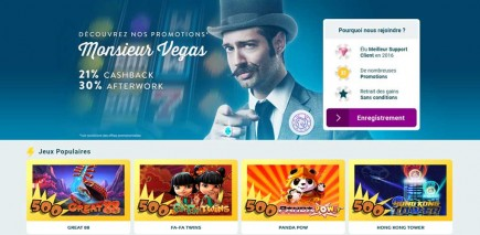 Promotions Monsieur Vegas