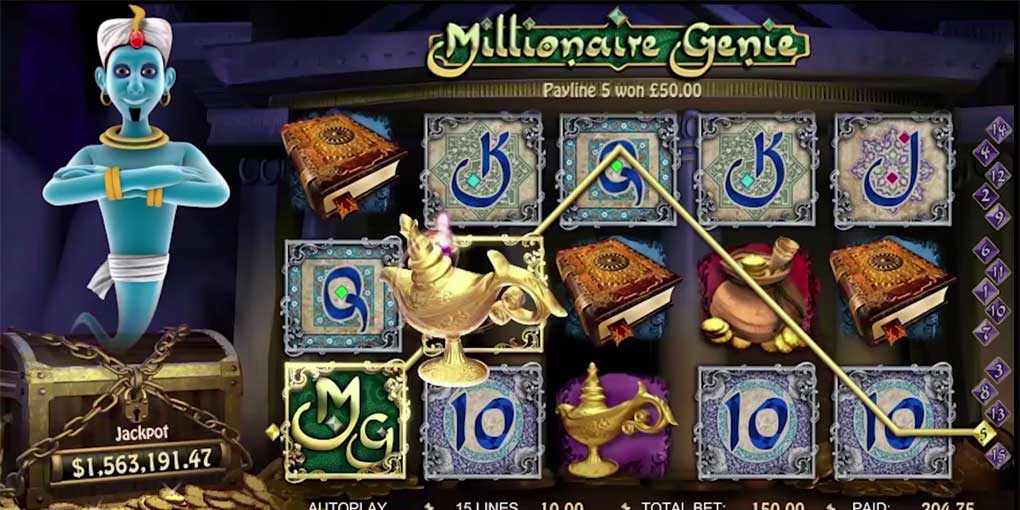 un jackpot de 4 558 956 gagn sur millionaire genie jeux gratuits de casino. Black Bedroom Furniture Sets. Home Design Ideas