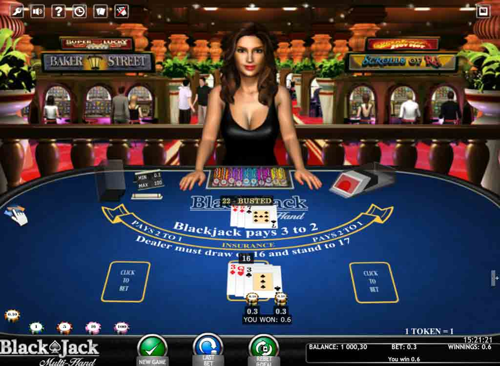 Jouer à Blackjack Multi Hand 3D