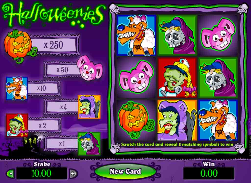 Jouer à Halloweenies Scratchcards