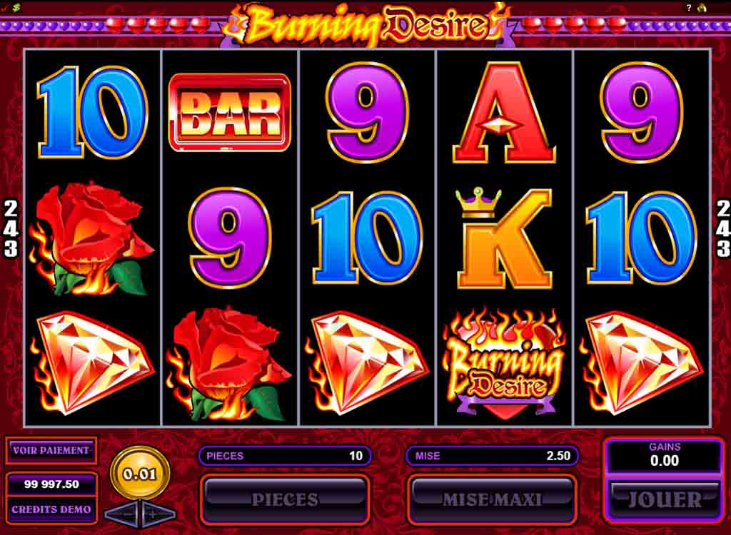 Machine à sous Burning Desire gratuit dans Microgaming casino