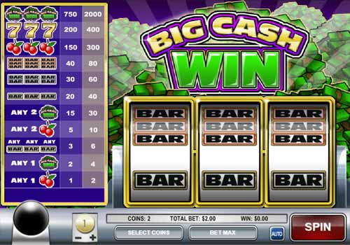 Machine à sous Big Cash Win