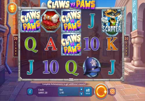 Machine à sous Claws vs Paws