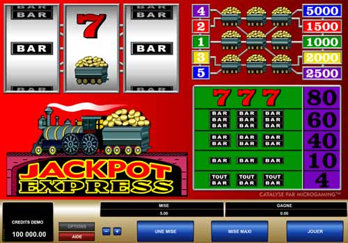 Machine à sous Jackpot Express