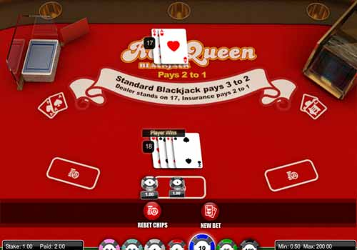 Aperçu Red Queen Blackjack