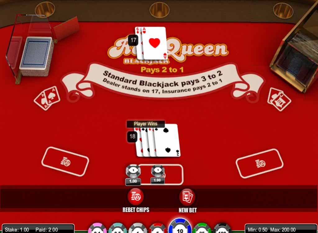 Jouer à Red Queen Blackjack