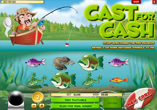 Jeu de grattage Cast for Cash
