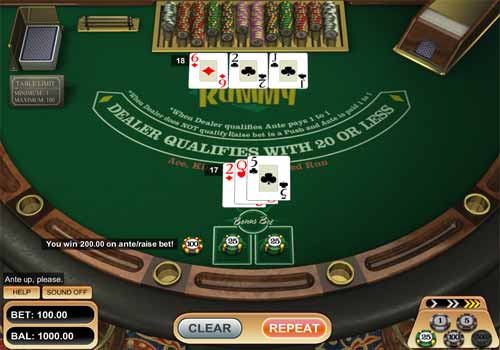 Poker Three Card Rummy
