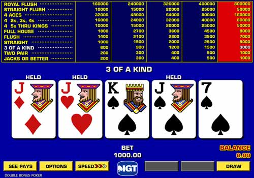 Aperçu Game King Double Bonus Poker