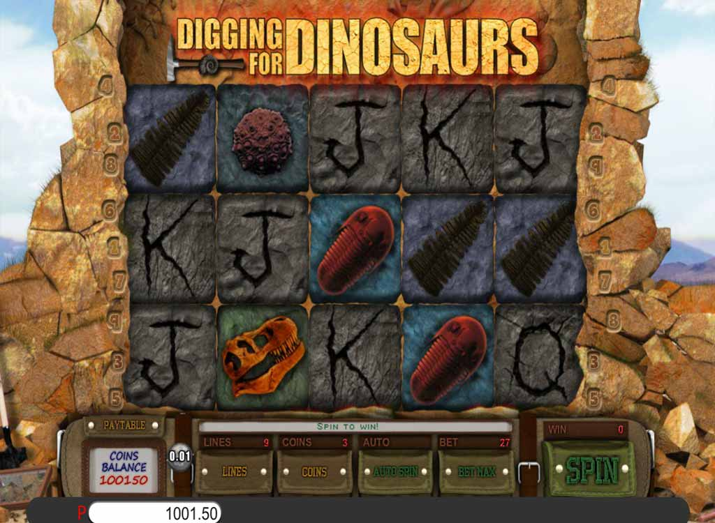 Jouer à Digging for Dinosaurs