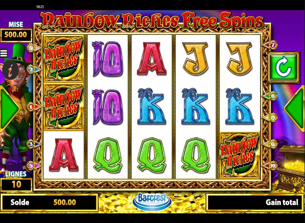 Jouer à Rainbow Riches Free Spins